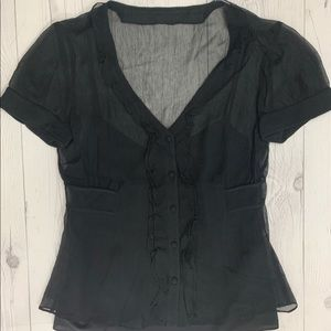 Ann Taylor Sheer Blouse with Camisole